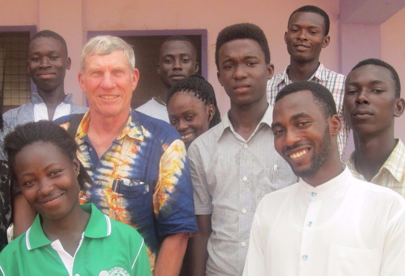 George with PIF students