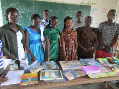 Esther (yr 1 bus), Ruth teacher, Judith (Yr 2 Edu), Sharon PIF, Christina (teacher), Solo (leader), Justice (yr 1 med) and Rolland (PIF) at back