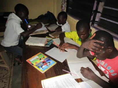 Students at study center.