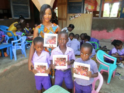 PIF Sharon with KG kids