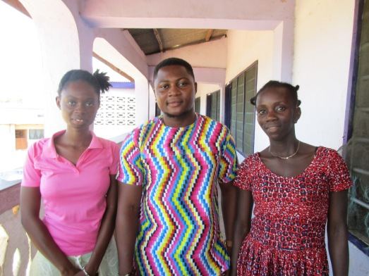 Joana on left (year 2 distance learning) Emmanuel in middle. First in class at CCPoly in business. PIF Esther.