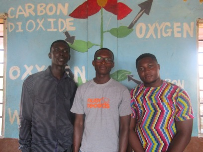 PIF Daniel and Richard (1st yr univ) and Emmanuel (2nd year, 1st in class)