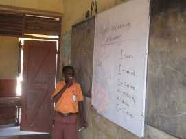 James doing his word exercise