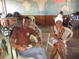 Bentil (yr 1 Law) and Helen (PIF)