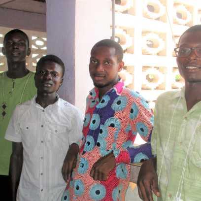 Daniel (yr 1-chem), Isaac (yr 2 law), Osborn (yr 1 edu) and Richard (yr 2 Med lab tech)