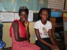 Helen and Mary at Bantuma Library